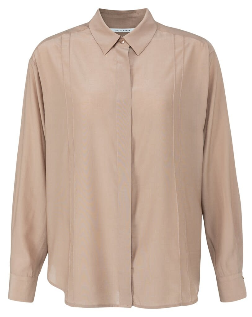 YAYA Women Blouse with pin tuck detail and blind placket