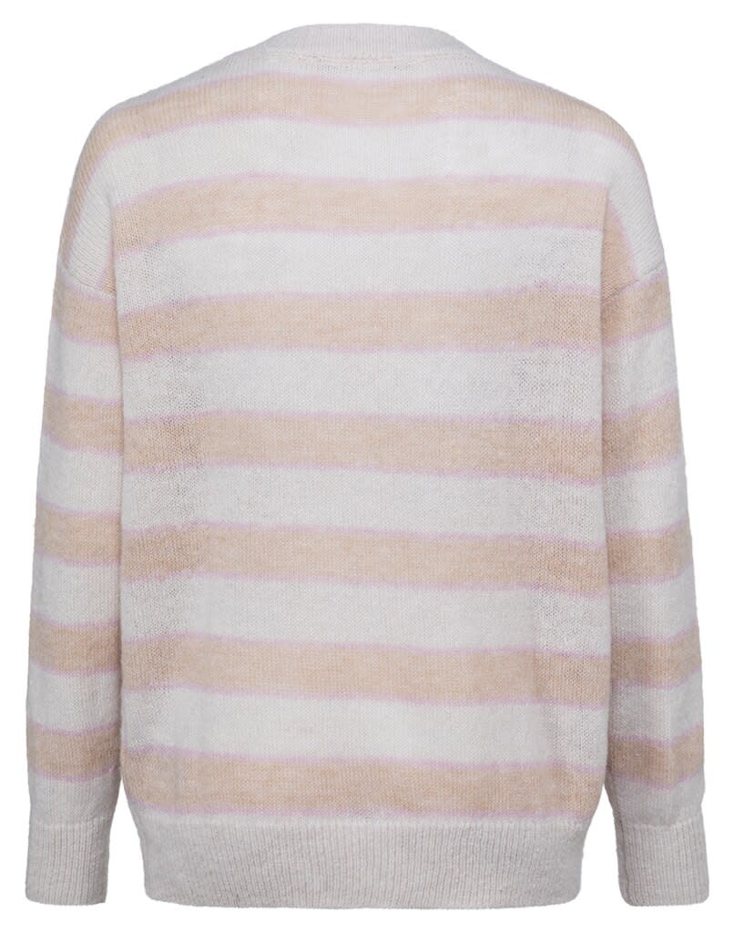 YAYA Women Multi colored striped sweater with long sleeves