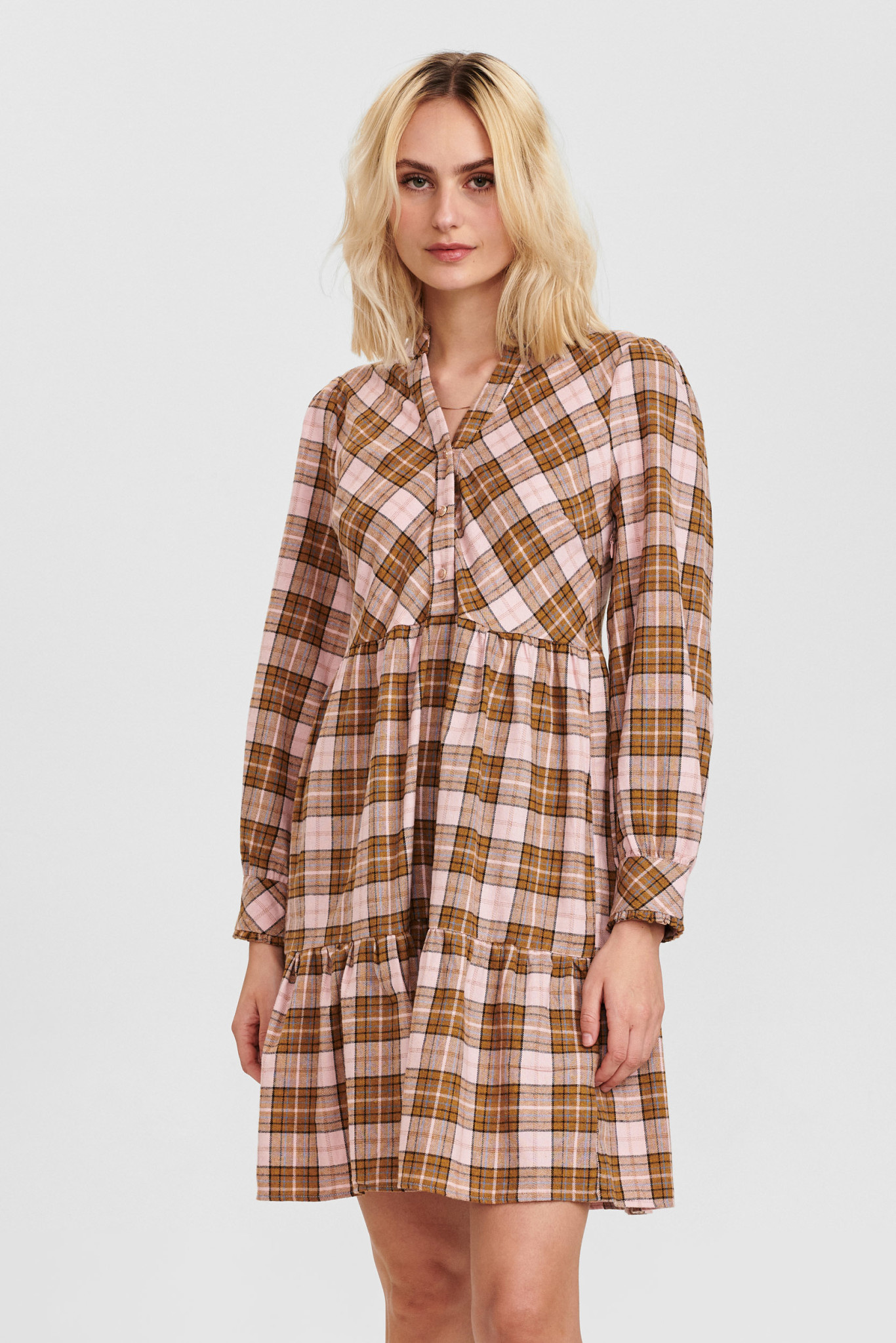 Nümph Bia check dress - Rose