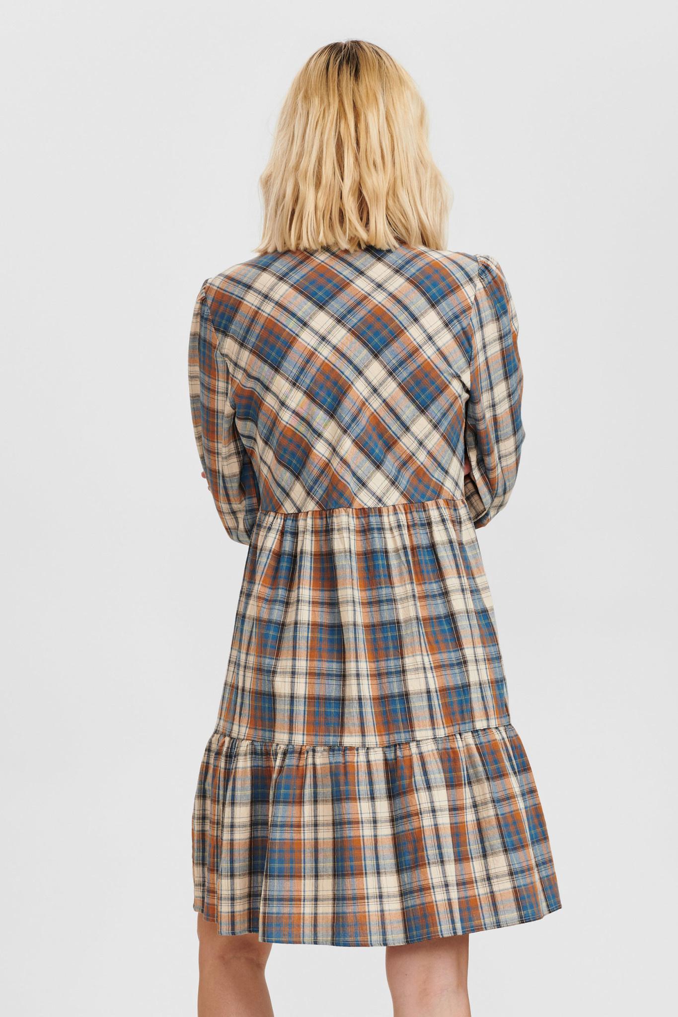 Nümph Bia Check Dress - Blauw