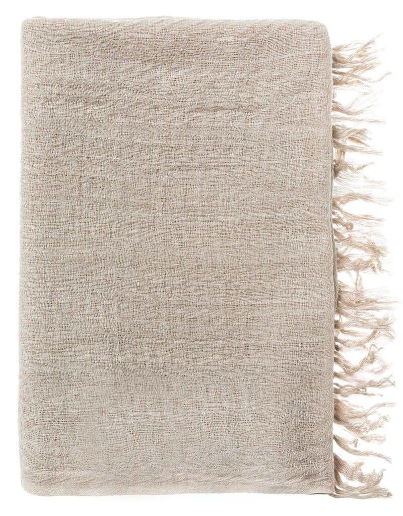 YAYA Women Wool blend scarf - beige