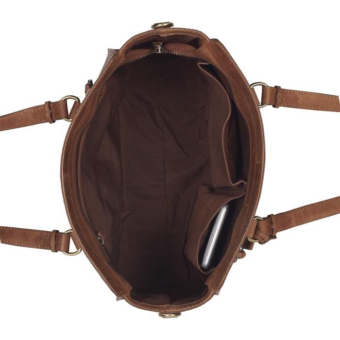 Burkely Croco Cassy - Handbag S - Cognac