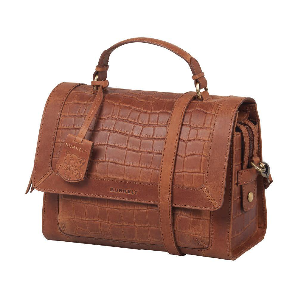 Burkely Croco Cassy - Citybag - Cognac