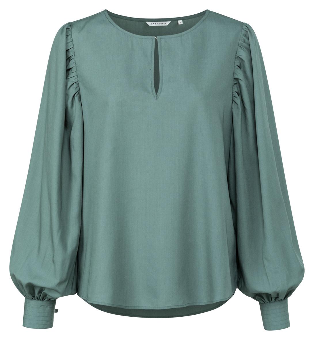 YAYA Women Drapey top with volume sleeve in lyocell blend