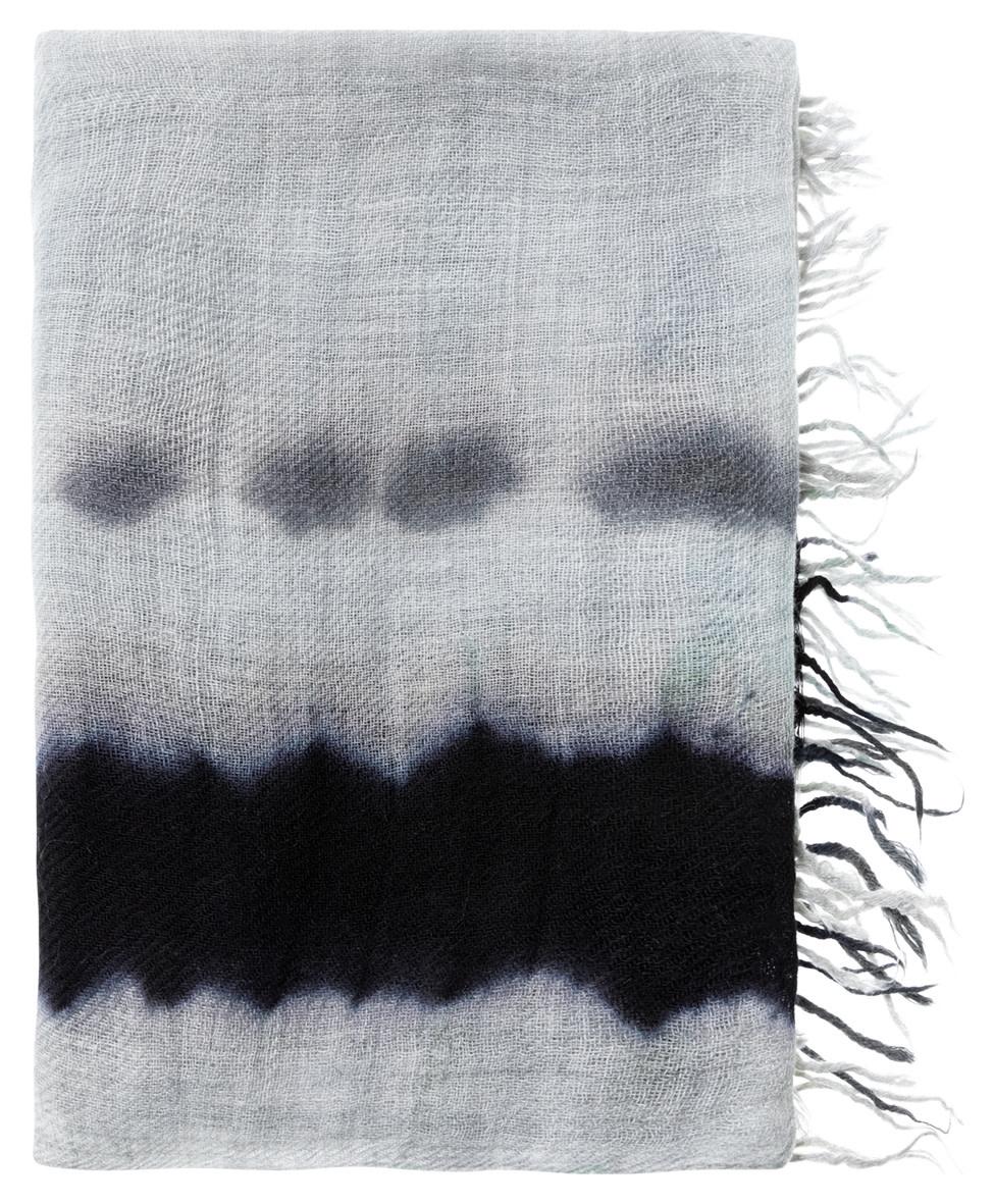 YAYA Women Wool blend scarf with tie dye stripe