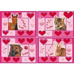 A4 Reuzewenskaarten love animals
