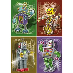 A4 Reuzewenskaarten robotdansers