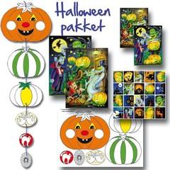 Kaarten en stickerpakket Halloween