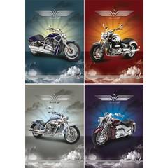 Reuzewenskaart serie 11077 - motoren