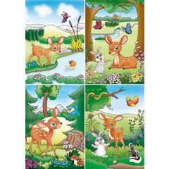 Reuzewenskaart met bambi figuur
