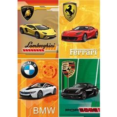 A4  Reuzewenskaarten merk auto's