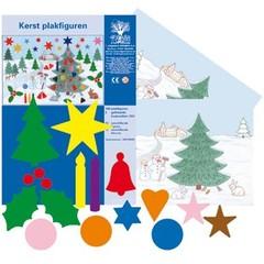 Plakfiguren Kerstset met 2 decoratie vellen