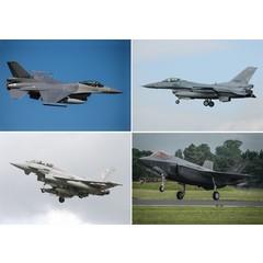 A4 Reuzewenskaarten gevechtsvliegtuigen