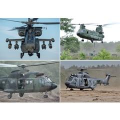 Reuzewenskaart serie 11048 Helicopters