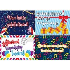 A4  Reuzewenskaarten verjaardagskaaarten