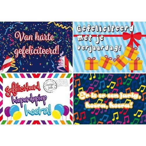 Reuzewenskaarten met felicitatieteksten
