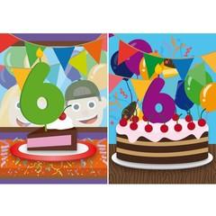 Reuzewenskaart serie om je te feliciteren met je 6e verjaardag