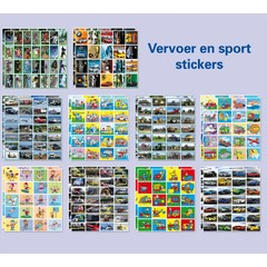 Stickerpakket  vervoer en sport (480)