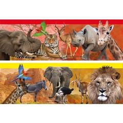 Leeswijzer met wilde dieren erop