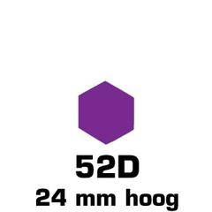 Plakfiguren zeshoek in gemengde kleuren (24mm)