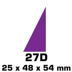 Plakfiguren driehoeken ingemengde kleuren  (25x48x54mm)