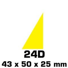 Plakfiguren driehoeken in  gemengde kleuren  (25x43x50)