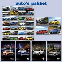 Auto's - Kaarten- en Sticker Pakket