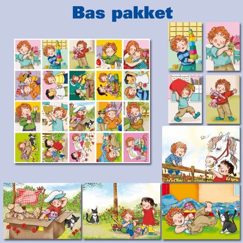 Kaarten- en sticker pakket Bas