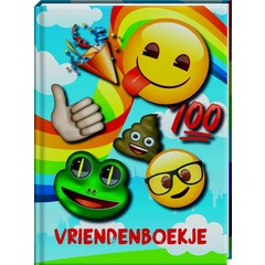 Vriendenboek Emoji met gratis stickervel