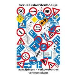 Verkeersbordenboekje met aanwijzingen, verkeersborden en verkeerstekens