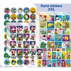 Stammetjes Kerst stickers XXL