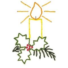 Borduurkaarten  5 kerstmotieven...