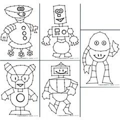 Robotjes - Borduurkaarten