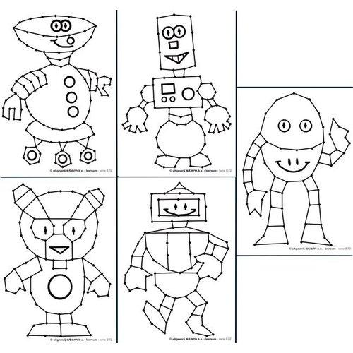 Borduurkaarten Robotjes