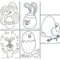 Borduurkaarten Pasen