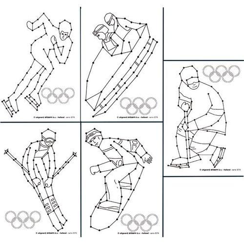 Borduurkaarten Olympische wintersporten