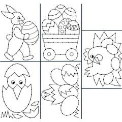 Borduurkaarten paasmotieven