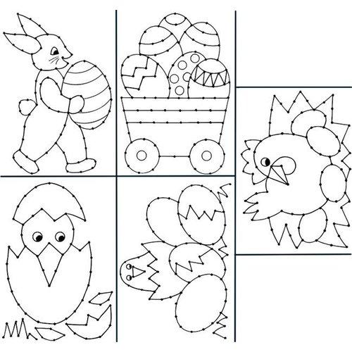 Borduurkaarten Pasen A