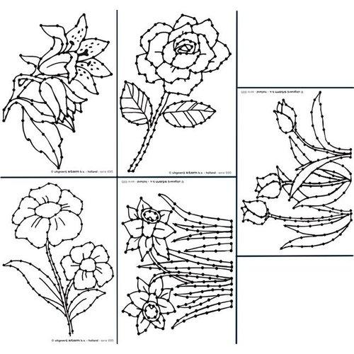 Borduurkaarten bloemen
