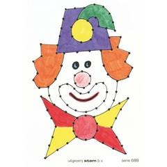 Clowns - Borduurkaarten