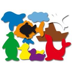Plakfiguren zeedieren