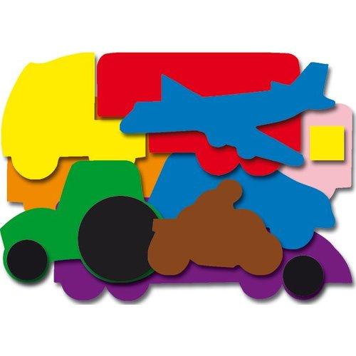 Plakfiguren vervoer