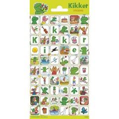 Kikker & Vriendjes - Stickervel
