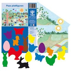Paas Set met 2 Decoratie Vellen - Plakfiguren
