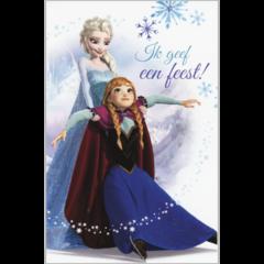 Uitnodigingskaartjes Frozen met GRATIS A5 felicitatiekaart