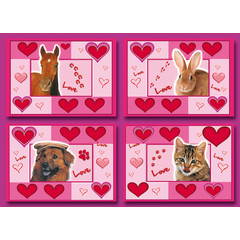 A6 Prentkaarten love animals
