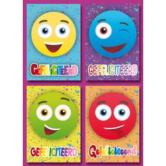 A6 Prentkaarten felicitatie smiley