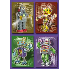 Kleine kaarten dansende robot