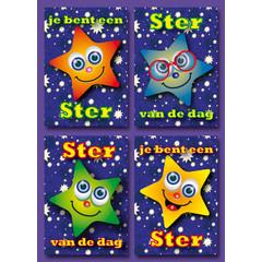 A7  Kleine kaarten sterren met complimenten