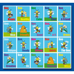Stammetjes Bee Happy - Stickervel